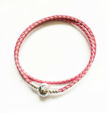 GENUINE PANDORA Mixed Pink Double-Leather Bracelet 590747CPMX-D FREE DELIVERY