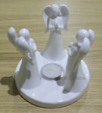 CERAMIC HANDCRAFTED ANGEL TEALIGHT CANDLE HOLDER + 1 FREE TEALIGHT CANDLE