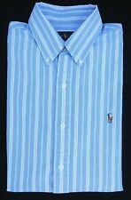 Polo Ralph Lauren Mens Blue White Gingham Twill - NEW WITH TAGS