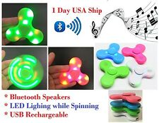 Closeout LED Light Rechargeable Bluetooth Wireless Speakers Fidget Hand Spinner