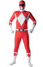 Déguisement seconde peau Power Rangers™ Rouge Taille M adulte