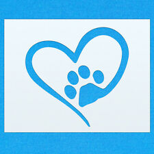 Love Heart Animal Dog Cat Paw Shape Mylar Airbrush Painting Wall Art Stencil