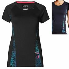 M&S size 8 Fitness Sports Gym Top T Shirt Breathable Moisture Wicking Quick Dry
