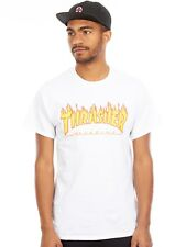 Camiseta Thrasher Flame Logo Blanco