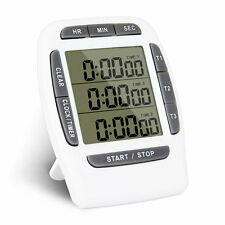 Multifunction Kitchen Timer 3 Display Channels Electronic Countdown Function Tim