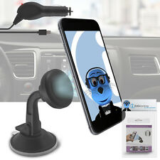 Magnetic Cradle-less Suction Holder with Charger for LG Wink Plus GT350i
