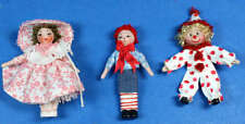 Dolls for dolls set of 3- 1/12 scale dollhouse miniatures