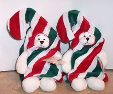 Heritage Collection By Ganz / 2 Candy Cane Bears  / New  / Free Shipping