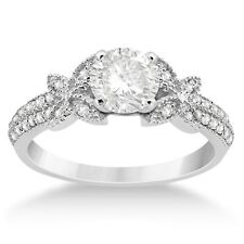 Women's Engagement Wedding Ring Beautiful Round Cut White CZ 925 Sterling Silver
