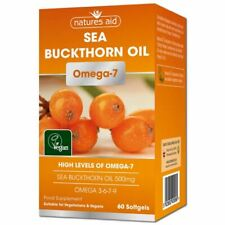 Natures Aid Sea Buckthorn Oil Omega-7 60 Softgels 1 2 3 6 12 Packs