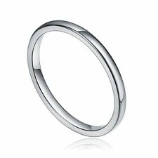 Platinum Plated 925 Sterling Silver Band Wedding/Engagement Ring For Women's