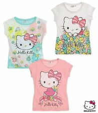 3er Set Hello Kitty T-Shirts Gr. 98 - 128 Shirts tshirt T-Shirt Mädchen