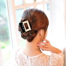 Large Crystal Hair Clip Diamante Hair Claw Clamp Square Bow Jaw Barrette Bridal