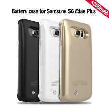 4200mAh Battery Charger Case Cover Backup Power Bank For Samsung Galaxy S6 Edge+