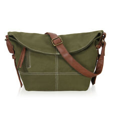 Foldable Women Canvas Shoulder Bag Slouchy Pouch Large Tote Hobo Daily Pack Sack