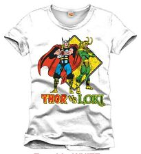 OFFICIAL MARVEL COMICS - THOR VS LOKI WHITE T-SHIRT (BRAND NEW)