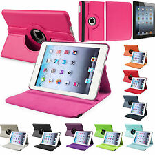 APPLE iPad 1/2/3 Mini Leather 360 Degree Rotating Smart Stand Case Cover