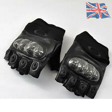 Tactical Half Finger Gloves Airsoft Paintball Black Tan Hand Protection