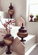 HUTSCHENREUTHER GLASS COLLECTION BRONZE POTICHE CANDELIERE VETRO BRONZO TLIGHT