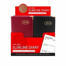 2018 DIARY POCKET SMALL OR SLIM LINE METAL CORNER WEEK TO VIEW DIARY