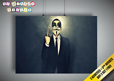 Cartel ANONYMOUS XtremeHacker los desaparecidos Wall Arte