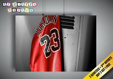 Cartel Poster MICHAEL JORDAN 23 BALONCESTO LEGEND Chicago toros