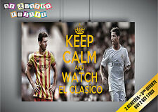 Cartel Messi VS ronaldo El Clásico KEEP CALM