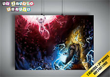 Locandina DBZ Goku VS Congelatore Dragon Ball Anime Manga Wall Arte