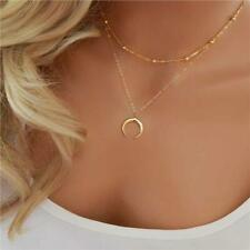 Fashion Crescent Moon Horn Boho Choker Bib Statement Choker Necklace Pendant