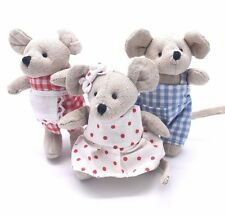 Powell Craft Miniature Patchwork Mouse Ragdoll | 10cm GINGHAM POLKA DOT HANDMADE