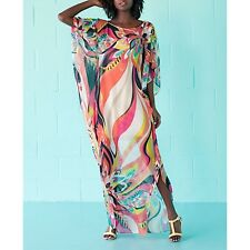 Vestito Copricostume Donna Woman Colourful Cover Up Kaftan Dress COV0039 P