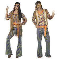 Smiffys Mens Womens Hippie Singer Fancy Dress Costume 60s Groovy Party Outfit
