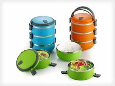 Lunch Box 3 Layer | Insulated Lunch Box | Plastic & Steel Lunch Box | Tiffin Box