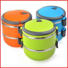 Lunch Box 2 Layer | Insulated Lunch Box | Plastic & Steel Lunch Box | Tiffin Box