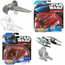 Hot Wheels Star wars - Sith Infiltrator, Vulture Droid, Poes X Wing, Tie Fighter