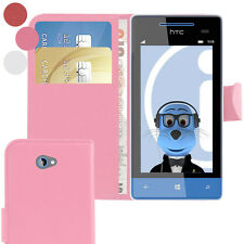 Book Wallet Case with Credit Card Money Holder For HTC Windows Phone 8X