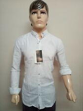 BRANDED WHITE SMART CASUAL/FORMAL LINEN COTTON SHIRT FOR MEN & BOY'S-ALL SIZE'S