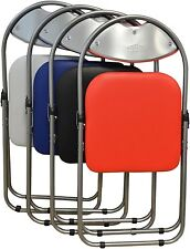 Housewares Black Padded, Folding, Desk Chair Spare Chairs Guest BLACK,BLUE & RED