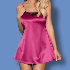 "Ladies Beautiful Pink  Sexy ""Satinia"" Babydoll Satin Chemise Nightdress"