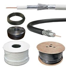 RG6 Coaxial Cable White/Black/Brown TV Sky BT Polsat Freeview Satellite Aerial