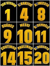 Fc Barcelona 2017-18 Name Set  Player Issue Match Avery Home nameset