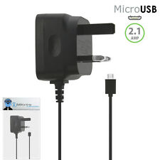 3 Pin 2.1 AMP UK MicroUSB Mains Charger for HTC Legend