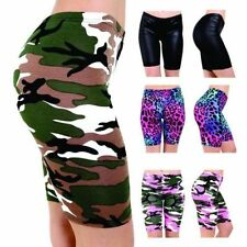 New Women's Ladies Girls Plain Printed Gym Yoga Active Dancing Cycling Shorts