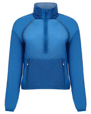 Sweaty Betty Blue Hooded Half Zip Windbreaker Running Jacket Sports Coat XS S