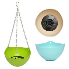 Plastic Plant Planter Hanging Pot Chain Home Balcony Indoor/outdoor Decoration