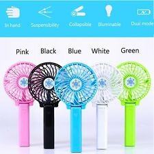 Mini Portable Handheld Fan Cooler Cooling USB LED Rechargeable Air Conditioner