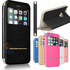 Flip PU Leather View Window Stand Case Cover for Apple iPhone 6 6s Plu