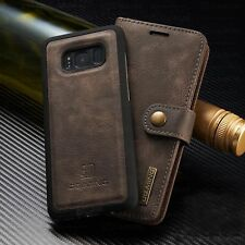 Leather Wallet Card Case Removable Magnetic Flip Cover For Galaxy S8 /