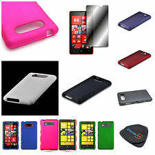 For Nokia Lumia 820  - Hard Rubberized Molded Snap On Phone Case