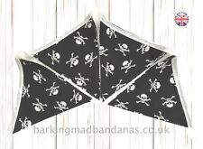 Bunting, Halloween Bunting, Cotton Bunting Pirate 100% Cotton Party Accessories